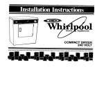 Whirlpool 240-VOLT ELECTRIC COMPACT DRYER Service manual