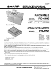 Sharp FO 4400 - B/W Laser - All-in-One Service manual