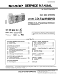 Sharp CD-DV999W Service manual