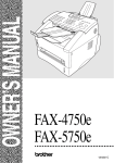 Brother FAX-5750e Owner`s manual
