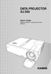 Casio XJ-350 User`s guide