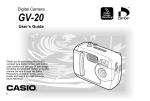 Casio GV-20 - 1 User`s guide