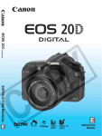 Camera EOS 20D Digital Instruction manual