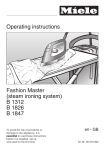 Miele T1312 Operating instructions