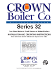 Crown Boiler 32 Series and Operating instructions