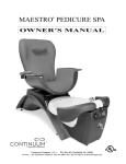 Continuum Footspas Maestro Owner`s manual