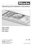 Operating and installation instructions Gas hobs CS 1011 CS 1021