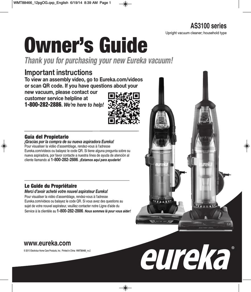 Eureka optima 431 manual