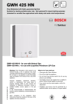 Bosch GWH-425-HN-L Specifications