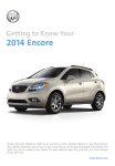 Buick 2014 Encore Car System information