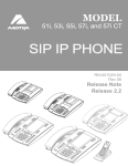 Aastra 55I IP PHONE - RELEASE 2.0 Installation guide