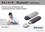 Belkin Bluetooth USB Adapter F8T012 User manual