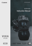 Canon VIXIA HF G30 Instruction manual