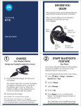 Motorola H715 - Headset - Over-the-ear User`s guide