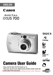 Canon DIGITAL IXUS 70 User guide