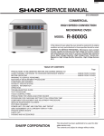 Sharp R-8000G Service manual