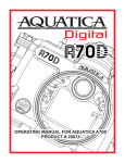 Aquatica Digital A70D Instruction manual