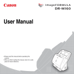Canon DR-M160 User manual
