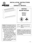 Empire Products RH-25-6 Owner`s manual