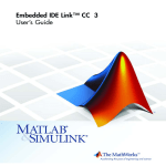 MATLAB EMBEDDED IDE LINK 4 - FOR USE WITH TEXAS INSTRUMENTS CODE COMPOSER STUDIO User`s guide