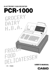 Casio MA1007-A User`s manual