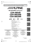 Alpine CDA-9852RB Owner`s manual
