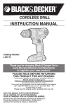 Black & Decker LDX172 Instruction manual