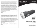 AcuRite 08560 Instruction manual
