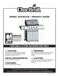 Char-Broil 463260108 Product guide