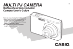 Casio E MULTI PJ CAMERA Multifunctional Camera System User`s guide