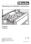 Operating and installation instructions Freezer F 9212 i