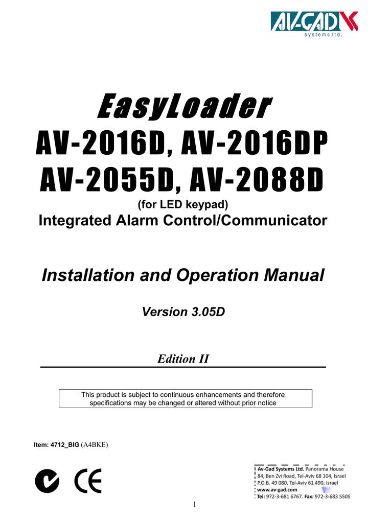 AV-GAD AV-701 Specifications