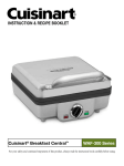 Cuisinart WAF-300 Series Operating instructions