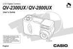 Casio QV-2800UX User`s guide