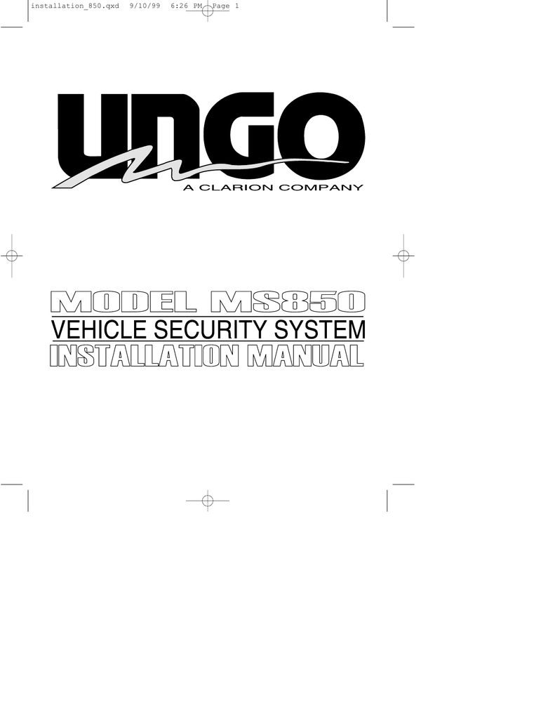 WRG-4671] Ungo Car Alarm Wiring Diagram on