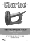 Clarke CESNG1 Instruction manual
