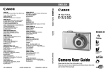 Canon DIGITAL IXUS 50 User guide
