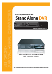 Maxtor 16Channel Stand Alone DVR User`s manual