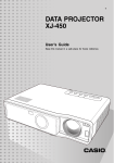 Casio XJ-450 User`s guide
