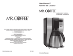 Mr. Coffee BVMC-ECMP1001R User manual