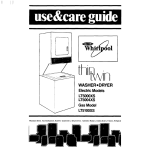 Whirlpool LT5004XS Operating instructions