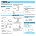 Casio Cassiopeia Pocket PC Hardware manual