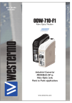 Westermo ODW-710-F1 User guide