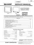 Sharp 32F631 Service manual