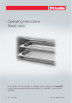 Miele Steam Oven Operating instructions