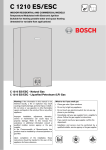 Bosch C1210ES Specifications