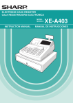 Sharp XEA403 Instruction manual