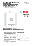 Bosch GWH 1600 P LP Specifications