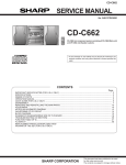Sharp CD-C662 Service manual