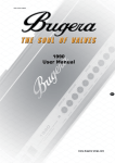 Bugera Trirec Infinium Amplifier User manual